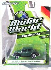 GREENLIGHT MOTOR WORLD SERIES 11 VOLKSWAGEN CLASSIC BEETLE RUBBER TIRES