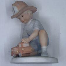 """1985 Frances Hook Roman Porcelain Figurine """"Engine #1"""" Vintage A Childs World"""