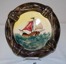 C160 Assiette souvenir - Bredene - Faiencerie Becquet - Quaregnon - bateau