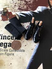 STAR ACE Vincent Vega Pulp Fiction Black Shoes & Socks loose 1/6th scale
