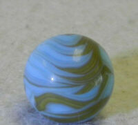 #10379m Vintage Christensen Agate Company CAC Flame Marble .59 Inches