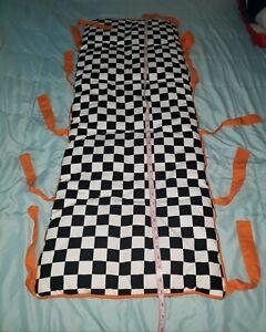 CUSTOM Baby Guy Crib Rail Cover Teething guard plush monster trucks Checkerboard
