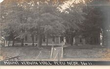 D9/ Peru Nebraska Ne Real Photo RPPC Postcard c1910 Mount Vernon Hall