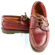 Vintage Clarks Mens Leather Boat Shoes UK 8 Brown Cherry