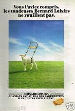 Publicité advertising 1989 La Tondeuse Bernard Loisirs