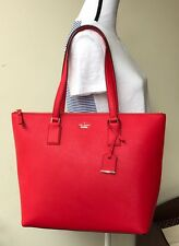 NWT KATE SPADE CAMERON STREET LUCIE LARGE TOTE HANDBAG ROOSTER RED TOTE