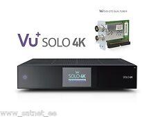 VU+ Solo 4K UHD Twin 2xDVB-S2 + 2xDVB-T2/T/C PVR LAN IPTV Linux Enigma2 Receiver