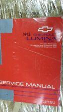 1993 93 Chevrolet Lumina Service Repair Manual Book 1 AND 2 of 2