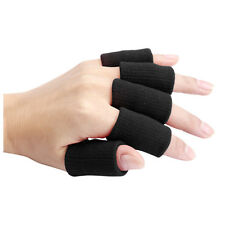 10pcs Stretch Sports Basketball Finger Guard Support Sleeves Protector black V3D