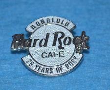 HARD ROCK CAFE 1996 Honolulu 25 Years of Rock - Small White Logo Pin # 3203