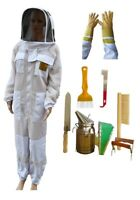 BEEKEEPING STARTER KIT OZ APIARIST VENTILATED 3 LAYER MESH BEE SUIT GLOVES TOOLS