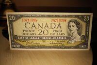 1954 $20 Dollar Bank of Canada Banknote WE8716398