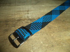 19 mm Perlon Watch Strap Braided Nylon Watch Band NOS from late 1950s 19mm