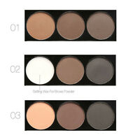 FOCALLURE  Eyebrow Liner Shadow Definition Makeup Stamp Powder Palette Natural
