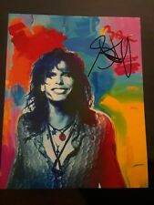 STEVEN TYLER AEROSMITH BOSTON ICON SIGNED AUTOGRAPHED 8X10 PHOTO PETER MAX ART