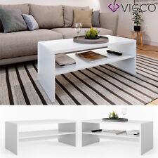 VICCO Couchtisch Weiß Wohnzimmer Sofatisch Kaffeetisch Beistelltisch Tisch