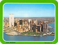 NY NY Lower Manhattan WORLD TRADE CENTER Twin Towers c1970s postcard 5.25x6.75