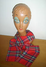 Scottish Scots Red Tartan Scarf Vintage Retro Fancy Dress Costume Used