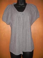 SONOMA HEATHER GREY ONE BUTTON SS CARIGAN SWEATER IN X LG