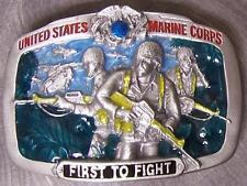 Military Belt Buckle metal U S Marines First to Fight N