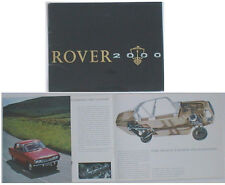 Rover 2000 P6 original Sales Brochure Pub. No. 644 n/d about 1963