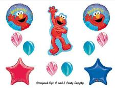 ELMO SESAME STREET HAPPY BIRTHDAY PARTY BALLOONS Decorations Supplies 1st 2nd