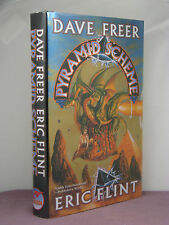 1st,signed by 3(authors,artist)Pyramid Scheme by David Freer,Eric Flint(2001,HB)