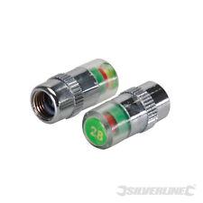 Jeu de 2 valves bouchons détecteur de pression pour pneus 2.34 bars REF 736536