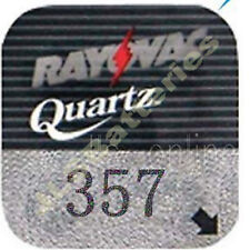 4 Rayovac 357 Silver oxide Watch Batteries AG13 SR44W J