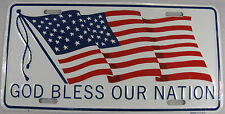 GOD BLESS AMERICA LICENSE PLATE AMERICAN FLAG L307