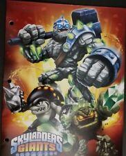 Skylanders Giants Portfolio 2 Pocket Folder New 2013