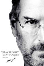 Steve Jobs inspirational quote poster - Pre signed - Stay hungry, stay foolish