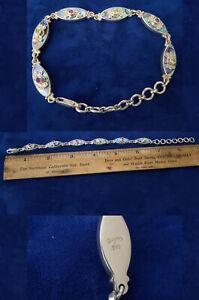 SAJEN STERLING SILVER BRACELET Amethyst PAULA SHELL Gemstones br168