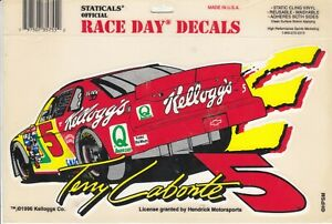 1996 Race Day Decals - TERRY LABONTE #5 - Static Cling - Reusable Washable