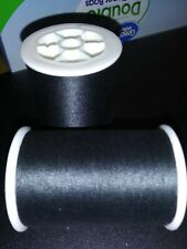 Coats and Clark All Purpose Polyester Thread Lot of 2 spools 380- yd each BLACK