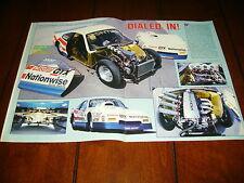 1986 PONTIAC FIERO GT RACE CAR  ***ORIGINAL 1986 ARTICLE***