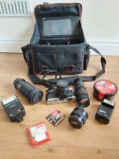 Cámara SLR analógicas Mamiya Ze con lentes 4, 2 & liberación de las unidades bolso de la Cámara