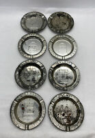 Lot Of 8 Vintage ~ ASHTRAY ~ SALEM CIGARETTES ~Advertisement~ Rusty Tin 3.5""