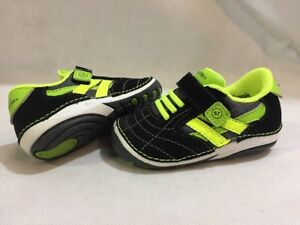 Stride Rite  Baby Toddlers  Shoes, Black/Green Size 4, UK 3.5, Eur 19.5