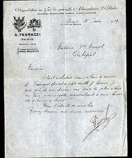 """PARIS (X°) PRODUITS ALIMENTAIRES D'ITALIE """"A. PEDRAZZI"""" en 1909"""