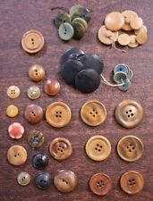 Mixed Lot of 45 Vtg Antique Vegetable Ivory Tagua Nut Buttons Shirt Pants Craft