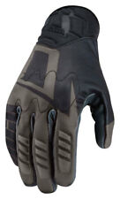 ICON WIREFORM Textile/Leather Touchscreen Motorcycle Gloves (Black) L (Large)