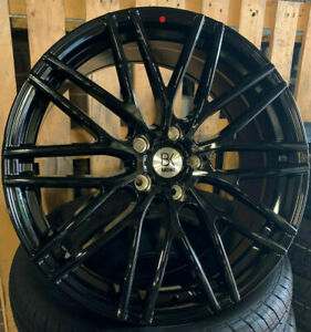 """4 x BK690 18"""" Alloy Wheels & Tyres 2254518 5X112 8X18 AUDI VW SKODA"""