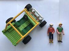 Vintage Fisher Price Adventure People dune buggy jeep Set figures