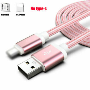 1M 2M 3M USB Cable Fit For iPhone iOS 6s 7 8P X 11 Android Type-C Charging Fast