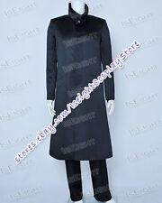 Star Trek Into Darkness Cosplay Khan Black Trench Coat Uniform Costume Halloween