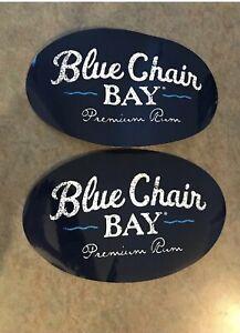 2 Blue Chair Bay Rum Stickers. Kenny Chesney Island Life 🏝 XL.