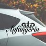Anfängerin Fahranfänger Queen Süß - Sticker Aufkleber Fun Decal Autoaufkleber