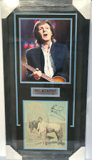 JSA The Beatles PAUL MCCARTNEY Signed Autographed FRAMED Picture Auto Photo