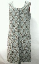 TRUE VINTAGE 1970s Womens Tunic Dress Long Vest Grey Brown Rare See Measurement